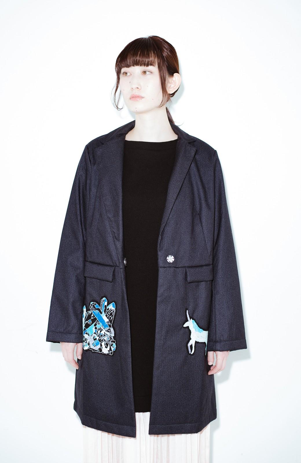 haco! co&tion 二宮佐和子Unicorn&Crystal Coat【アーティスト監修10点もの】 <ブラック>の商品写真7