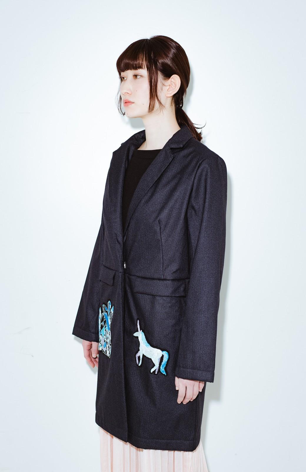 haco! co&tion 二宮佐和子Unicorn&Crystal Coat【アーティスト監修10点もの】 <ブラック>の商品写真10