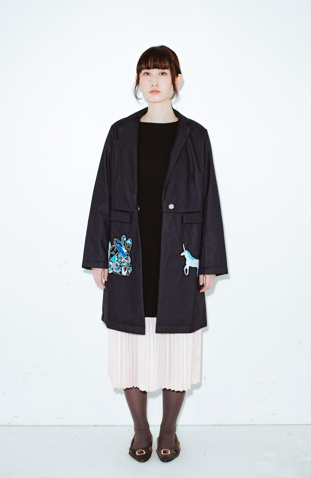 haco! co&tion 二宮佐和子Unicorn&Crystal Coat【アーティスト監修10点もの】 <ブラック>の商品写真6