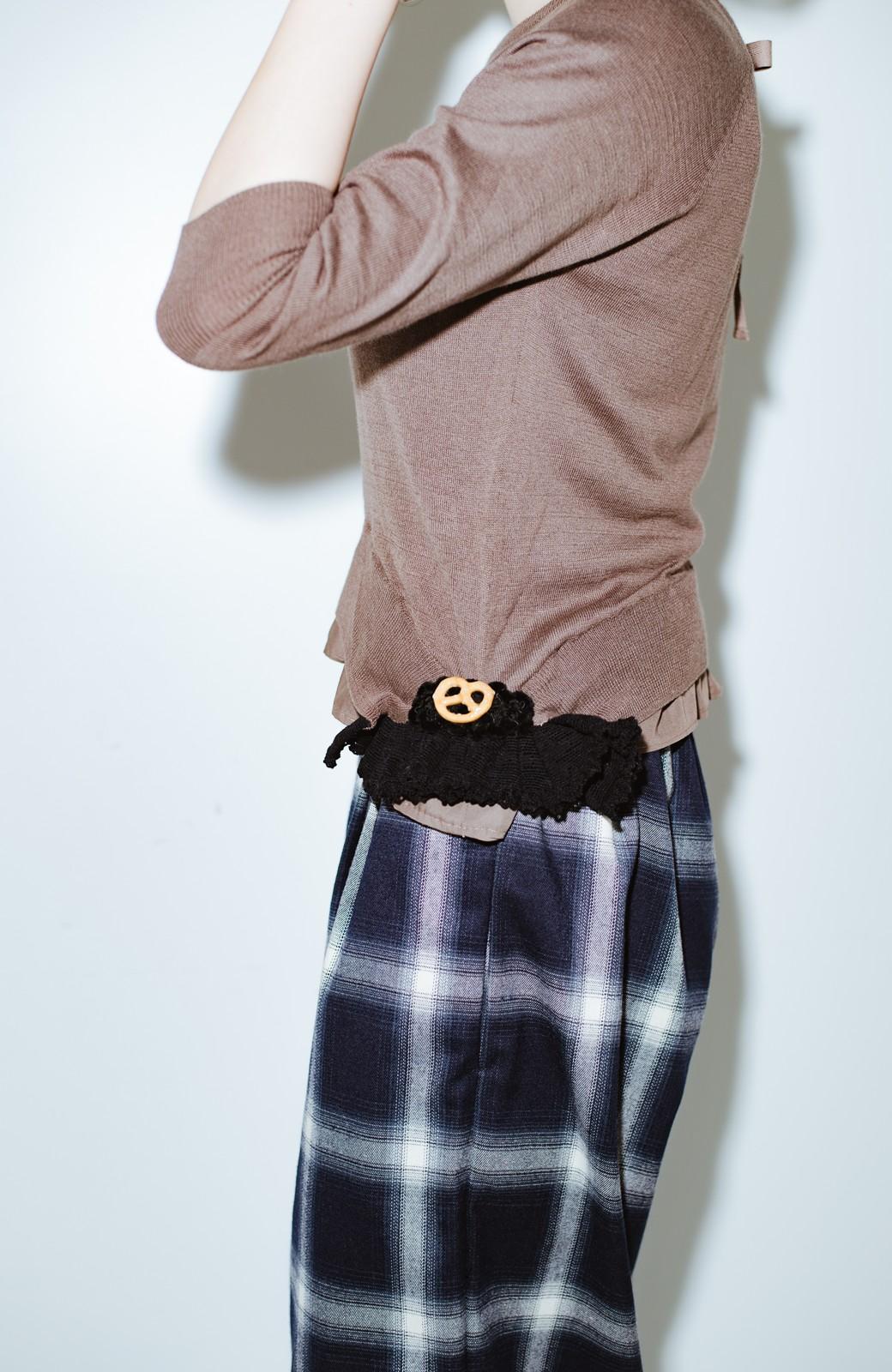 haco! co&tion ROTARI PARKERニット布はくトップス【アーティスト監修10点もの】 <チャコールグレー>の商品写真7