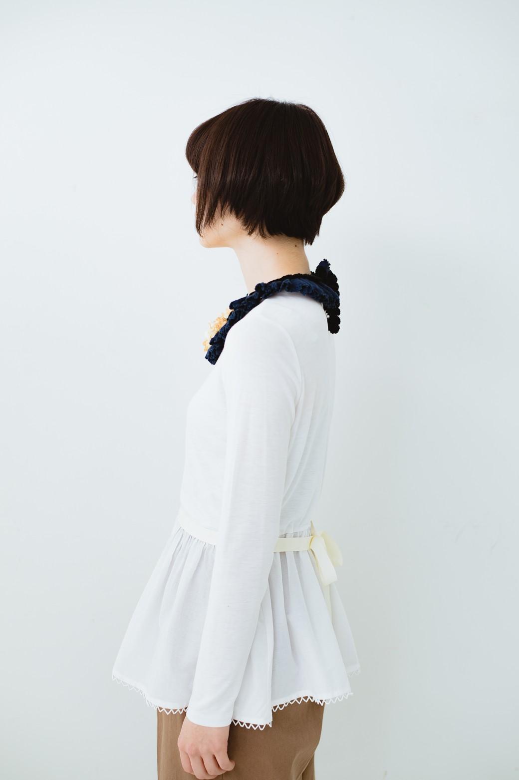 haco! co&tion ROTARI PARKERリボントップス【アーティスト作品1点もの】 <ホワイト>の商品写真7