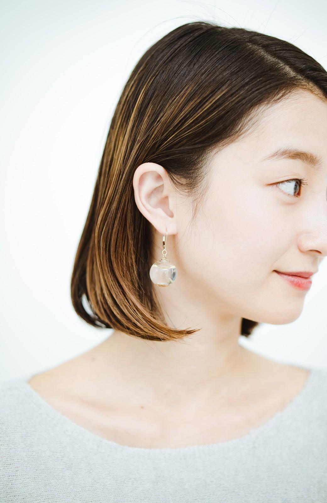 haco! てとひとて KANA MATSUNAMI チャリティー企画 Glass dome  French hookピアス <ゴールド>の商品写真7