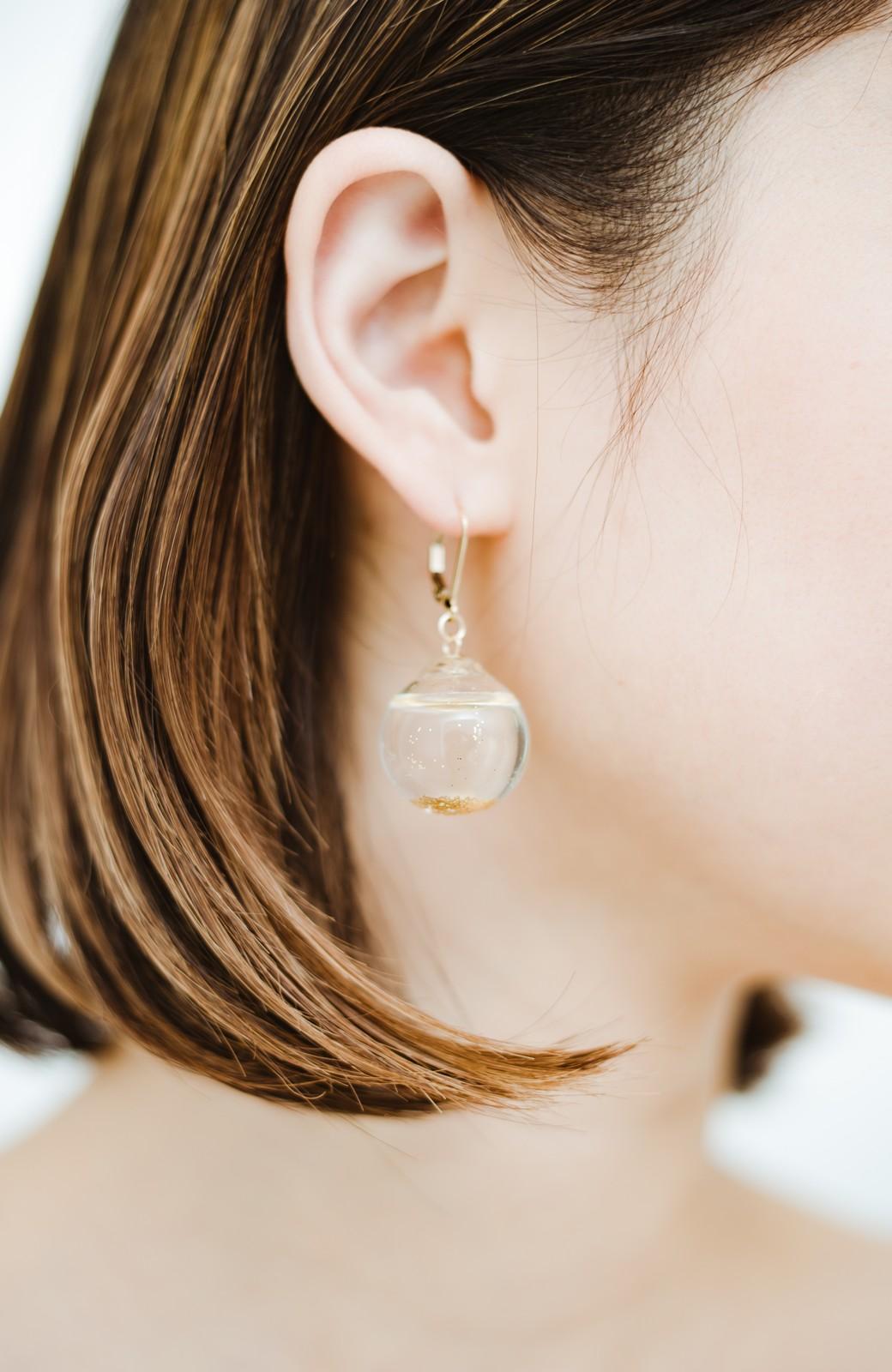 haco! てとひとて KANA MATSUNAMI チャリティー企画 Glass dome  French hookピアス <ゴールド>の商品写真8