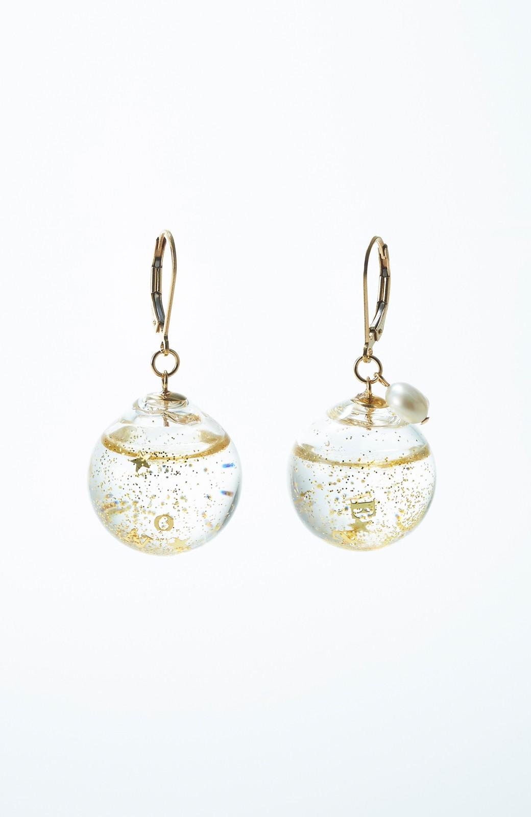 haco! てとひとて KANA MATSUNAMI チャリティー企画 Glass dome  French hookピアス <ゴールド>の商品写真1