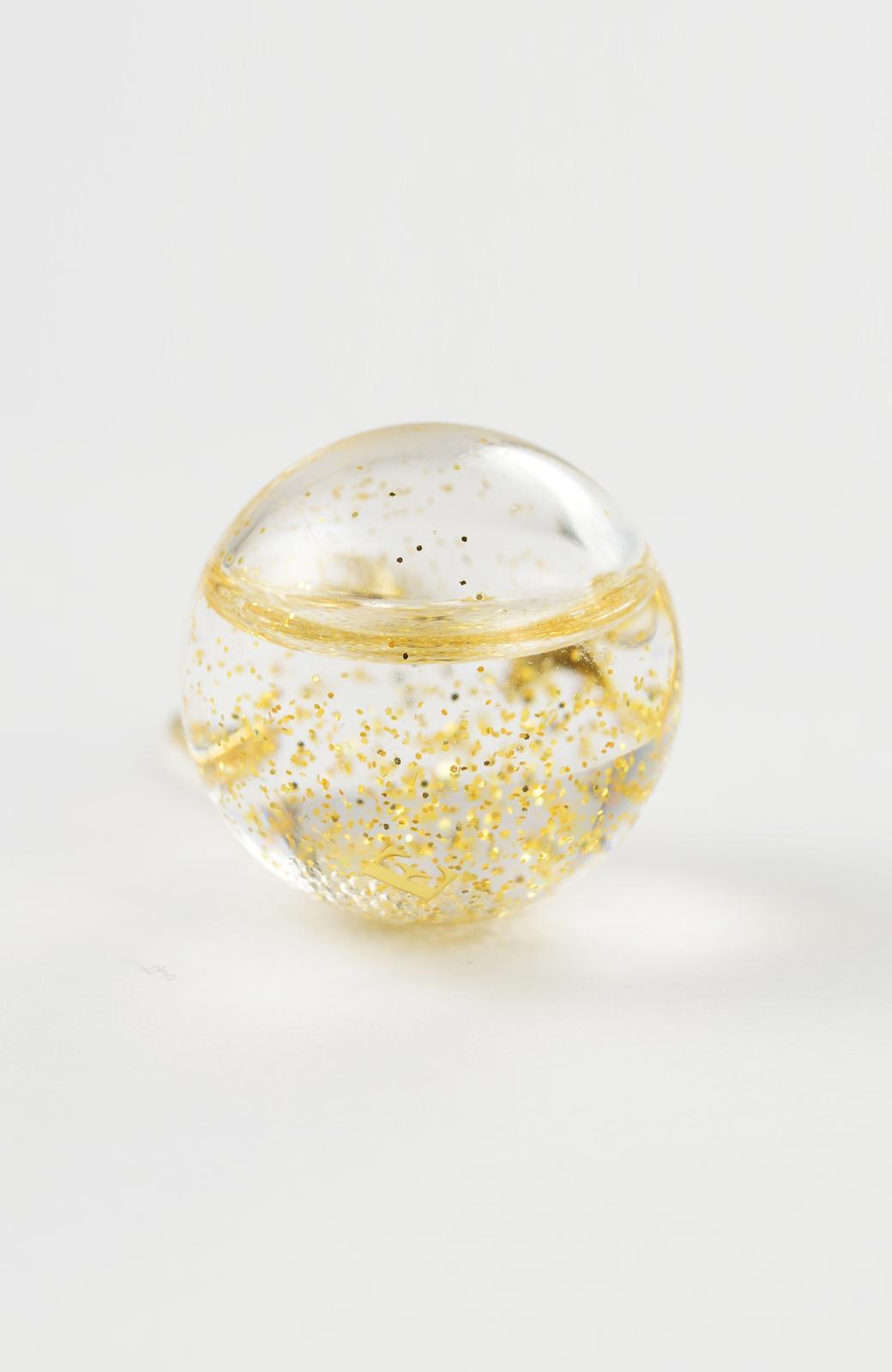 haco! てとひとて KANA MATSUNAMI チャリティー企画 Glass dome  French hookピアス <ゴールド>の商品写真4