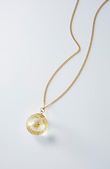 haco! てとひとて KANA MATSUNAMI チャリティー企画 20mm Glass dome crystal ネックレス <ゴールド>の商品写真