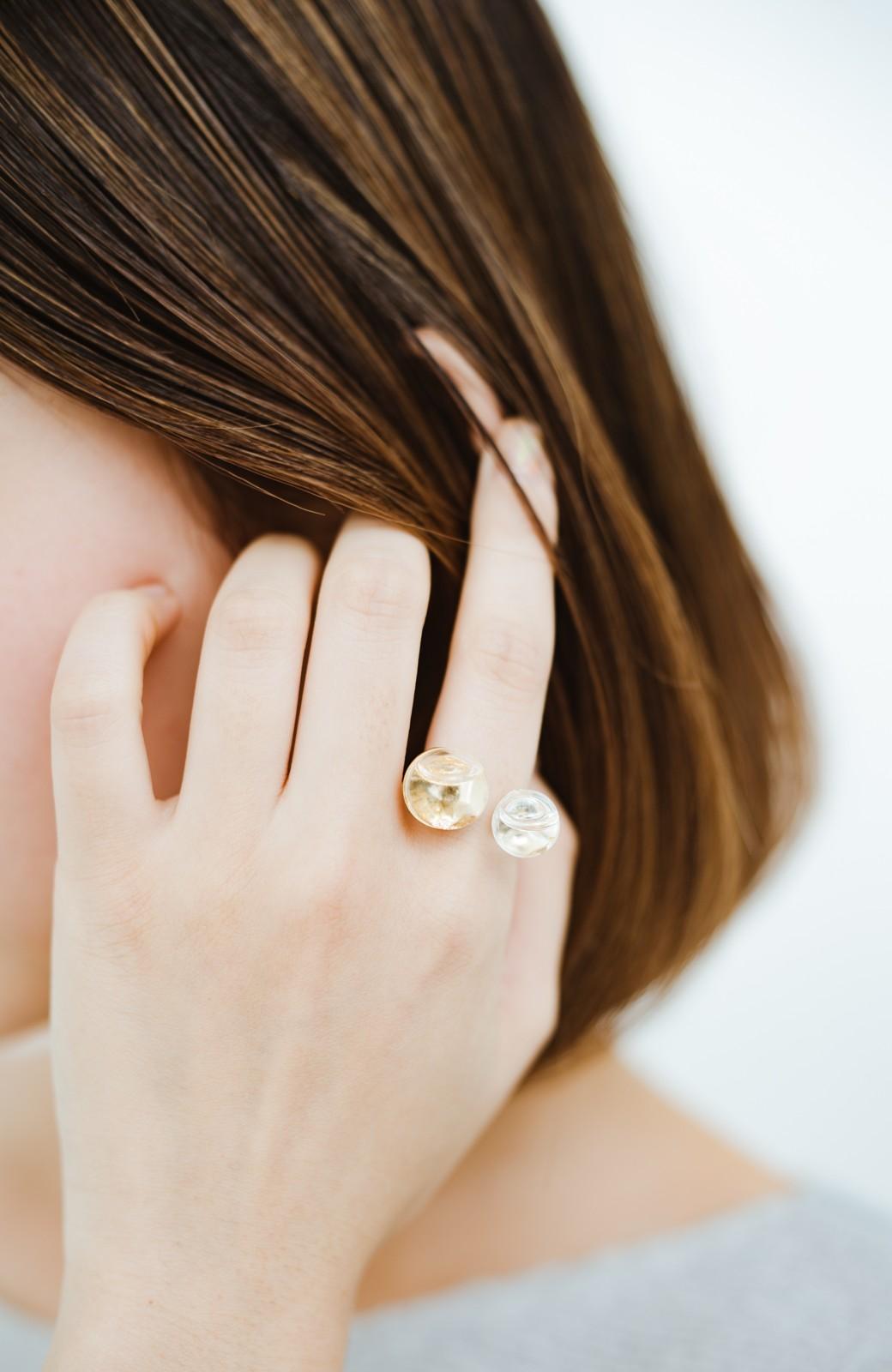 haco! てとひとて KANA MATSUNAMI チャリティー企画 W Glass dome リング <ゴールド>の商品写真7