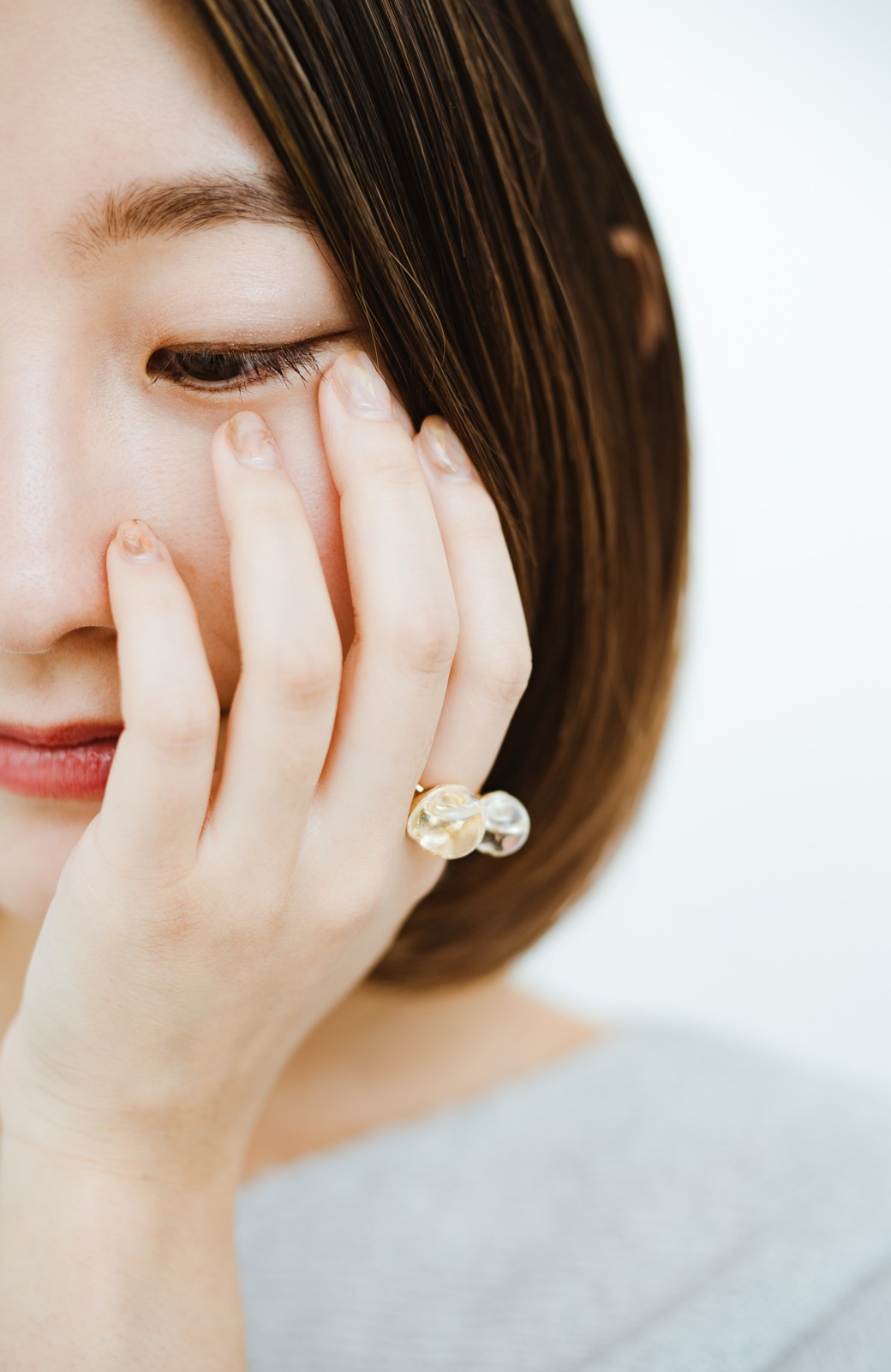 haco! てとひとて KANA MATSUNAMI チャリティー企画 W Glass dome リング <ゴールド>の商品写真8