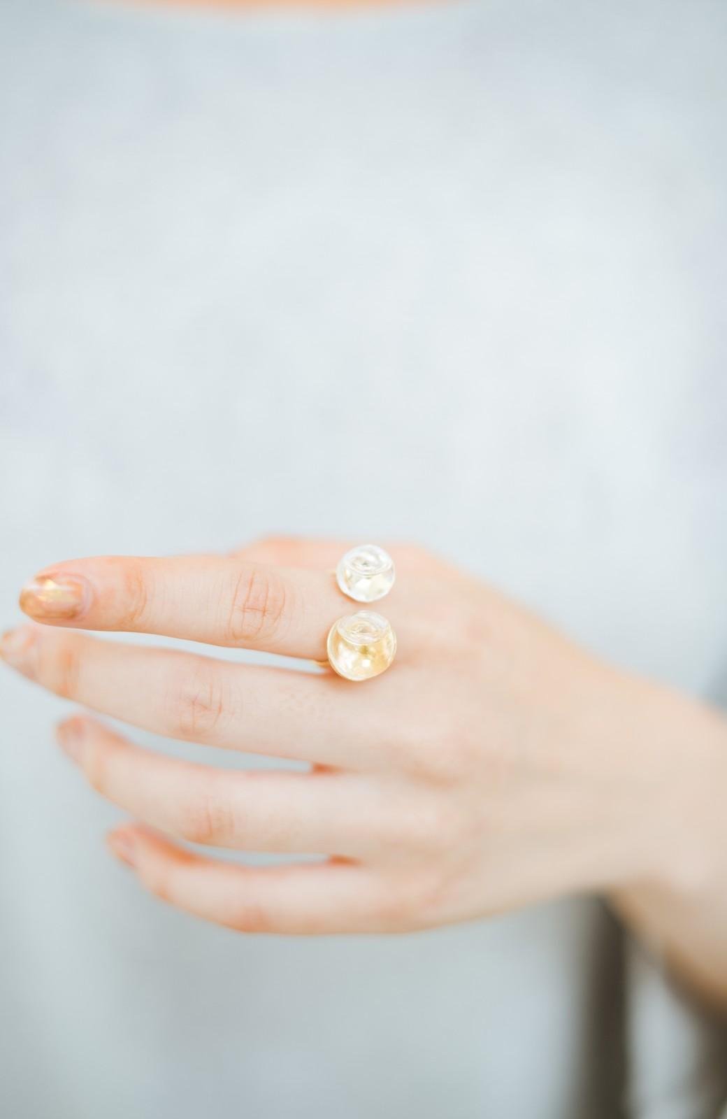 haco! てとひとて KANA MATSUNAMI チャリティー企画 W Glass dome リング <ゴールド>の商品写真9