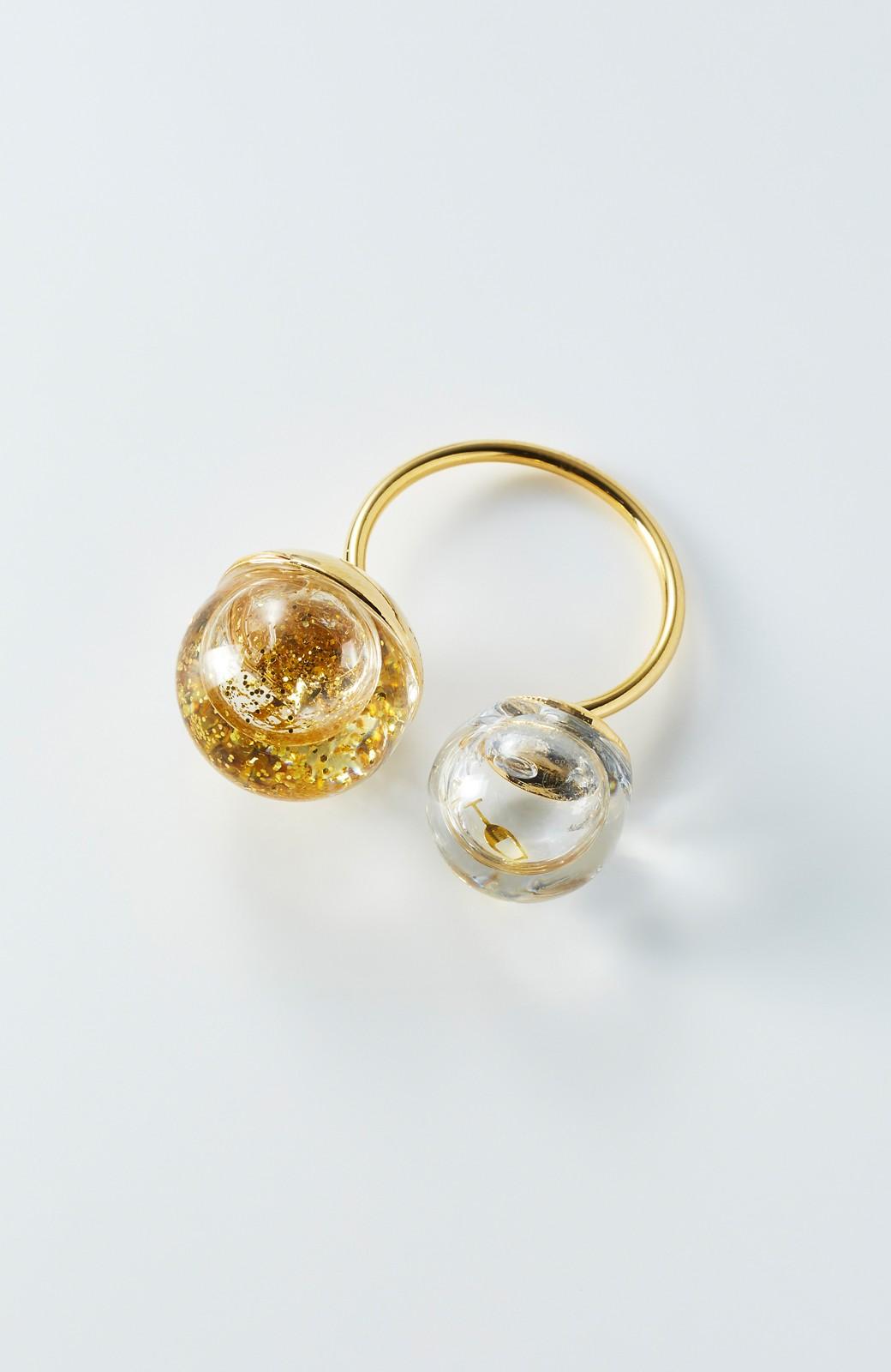 haco! てとひとて KANA MATSUNAMI チャリティー企画 W Glass dome リング <ゴールド>の商品写真1