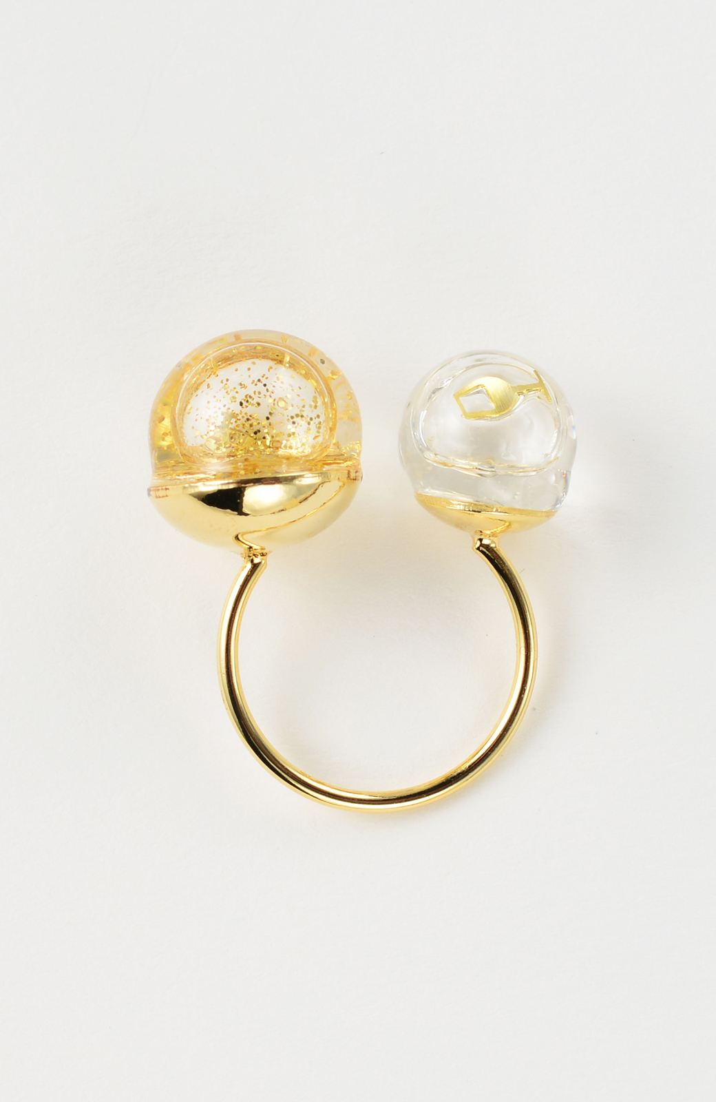 haco! てとひとて KANA MATSUNAMI チャリティー企画 W Glass dome リング <ゴールド>の商品写真2