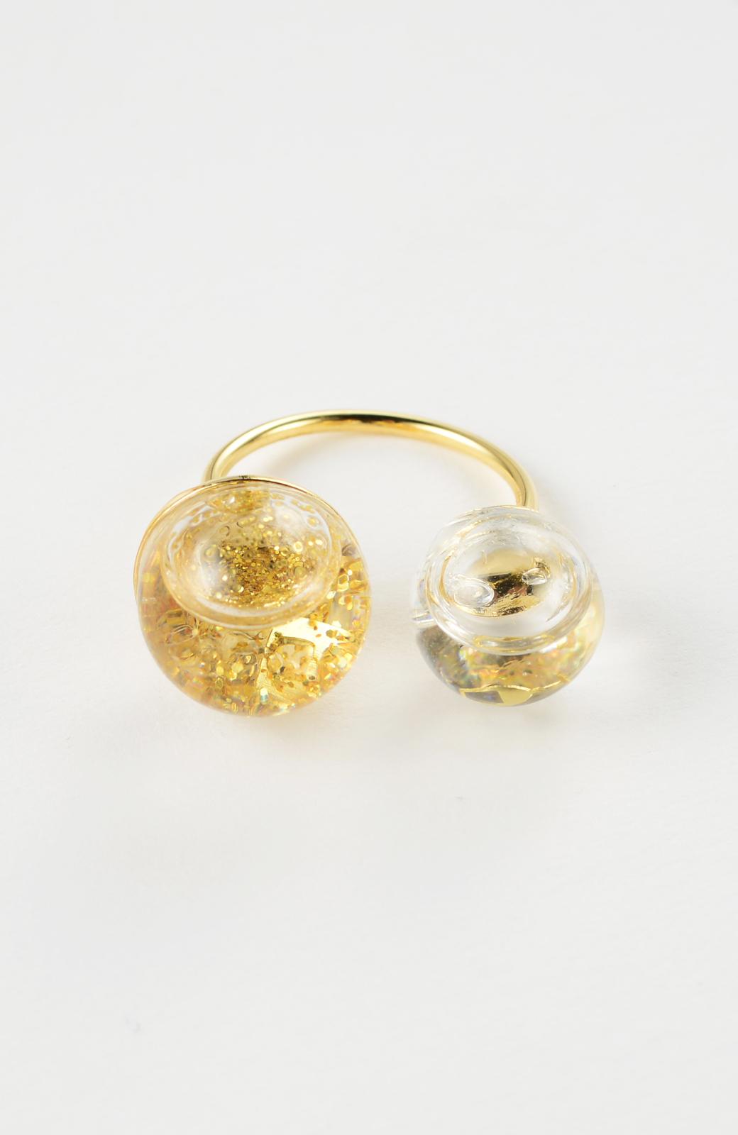 haco! てとひとて KANA MATSUNAMI チャリティー企画 W Glass dome リング <ゴールド>の商品写真4
