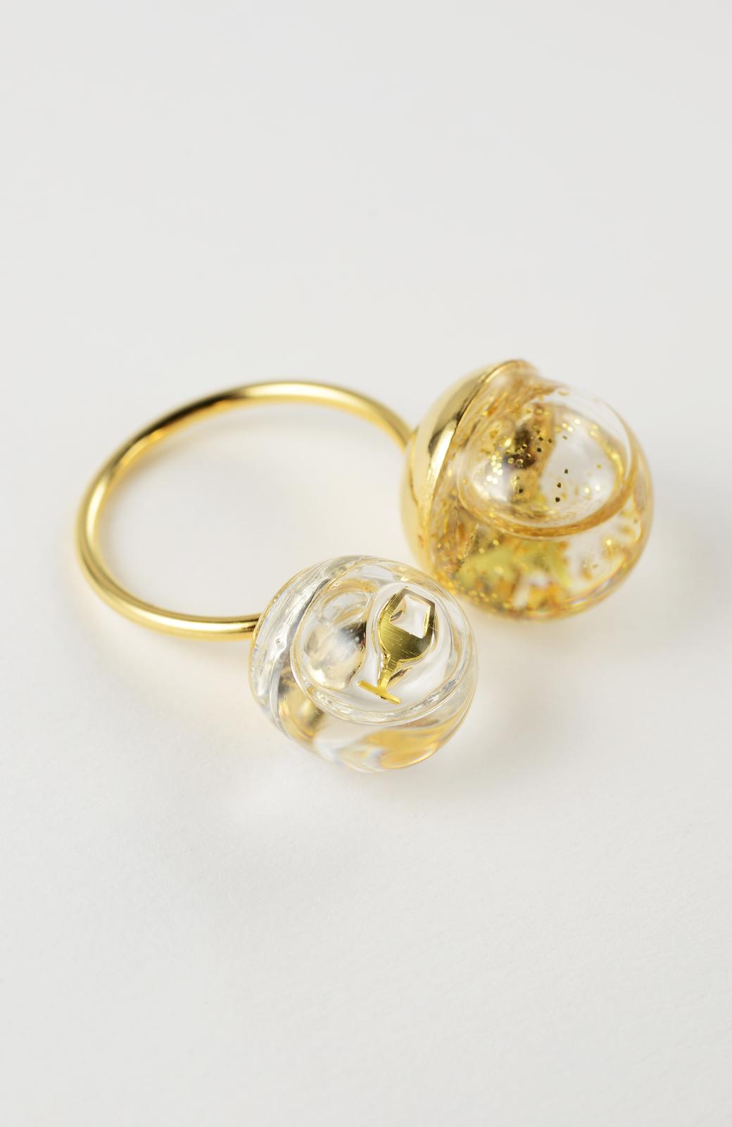 haco! てとひとて KANA MATSUNAMI チャリティー企画 W Glass dome リング <ゴールド>の商品写真5