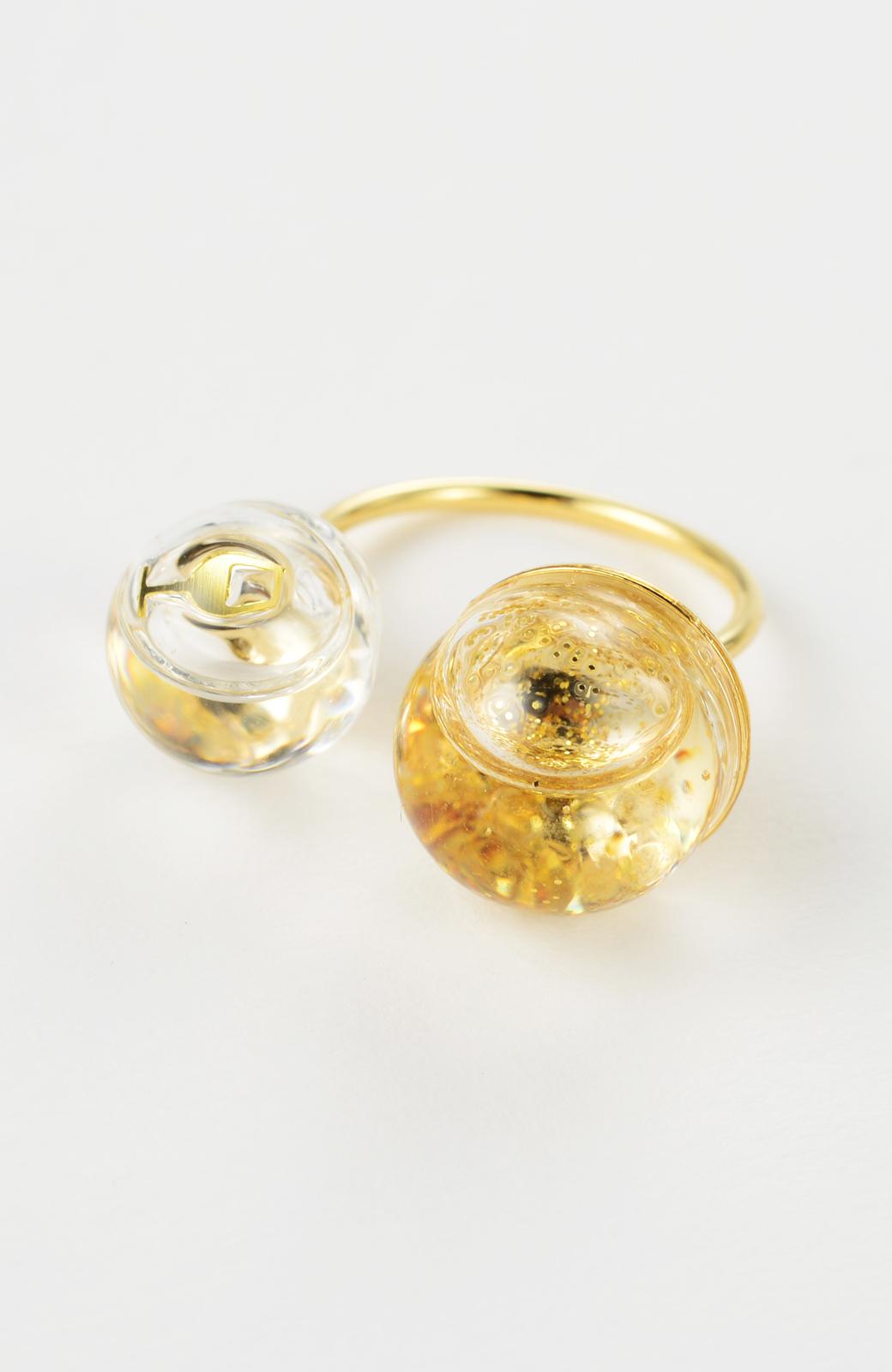 haco! てとひとて KANA MATSUNAMI チャリティー企画 W Glass dome リング <ゴールド>の商品写真6