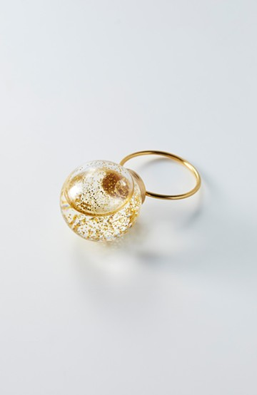 haco! てとひとて KANA MATSUNAMI チャリティー企画20mm Glass dome リング<ゴールド>の商品写真