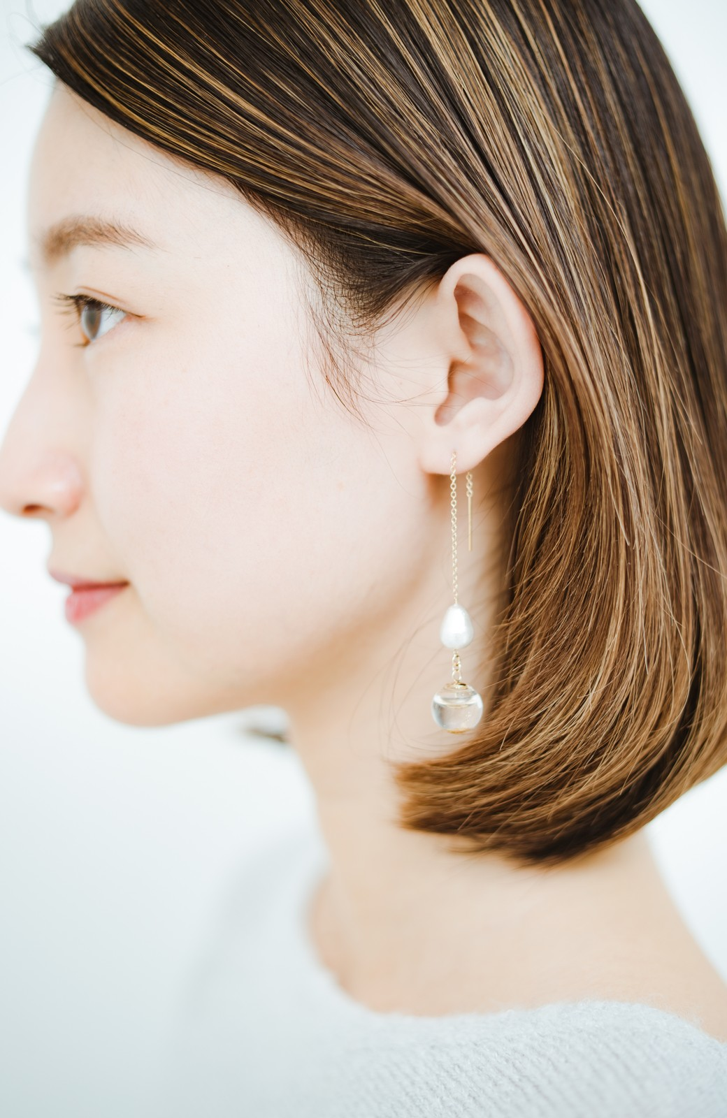 haco! てとひとて KANA MATSUNAMI チャリティー企画 Glass dome American chain ピアス <ゴールド>の商品写真8