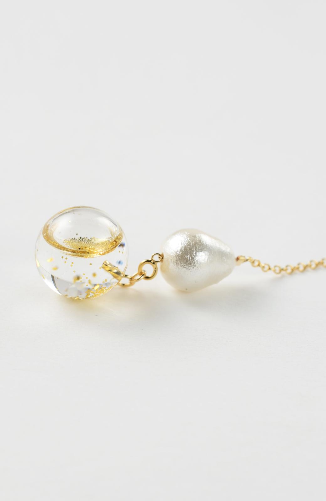 haco! てとひとて KANA MATSUNAMI チャリティー企画 Glass dome American chain ピアス <ゴールド>の商品写真3