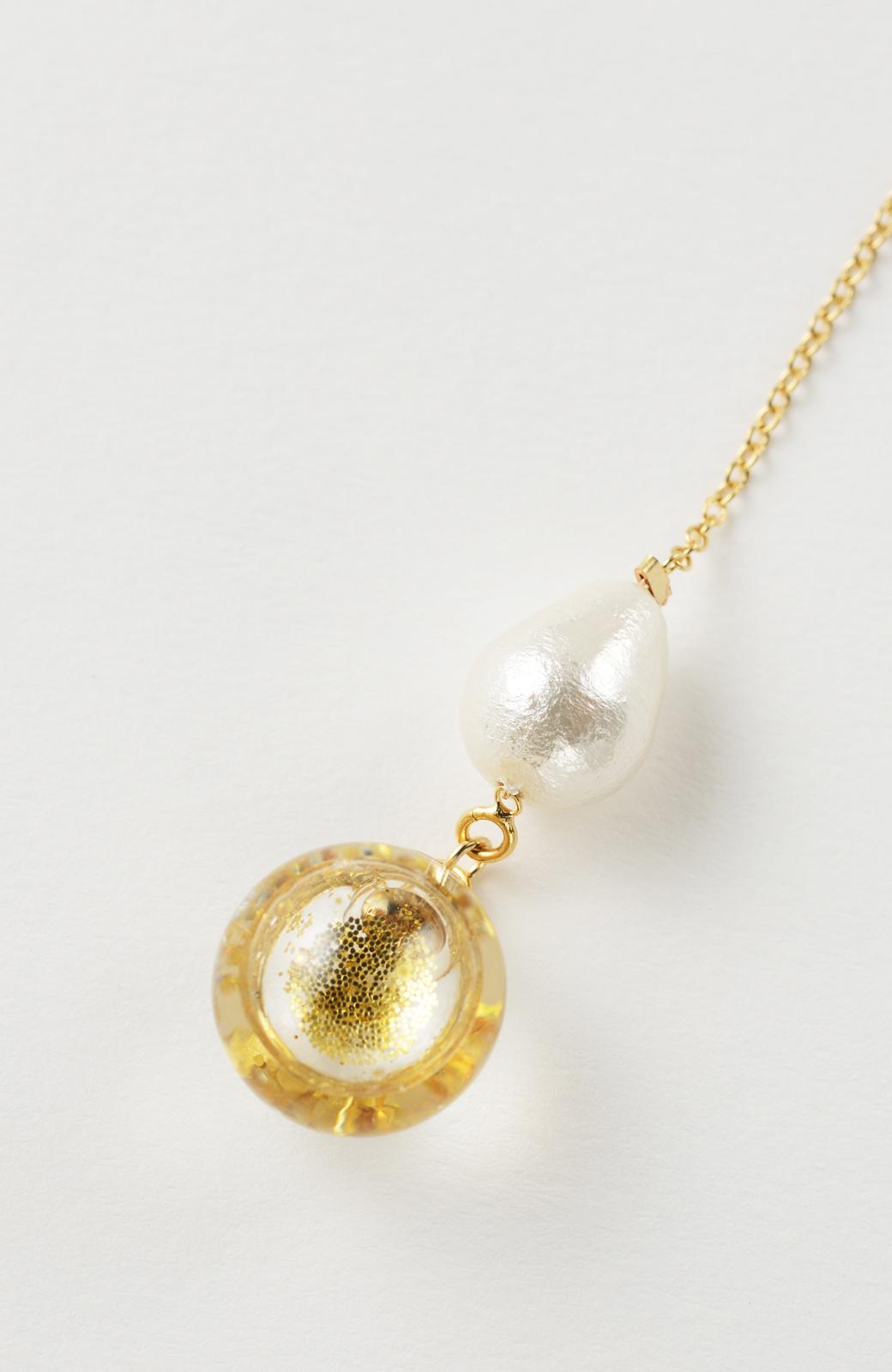 haco! てとひとて KANA MATSUNAMI チャリティー企画 Glass dome American chain ピアス <ゴールド>の商品写真4