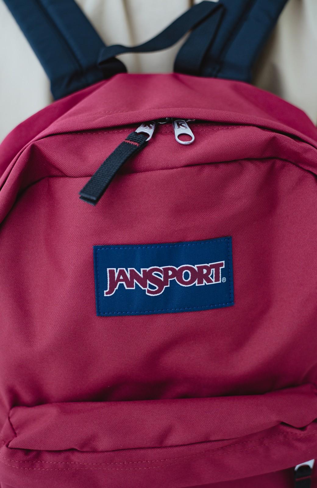 haco! 【新色追加】JANSPORT SUPERBREAK リュック <ワインレッド>の商品写真3