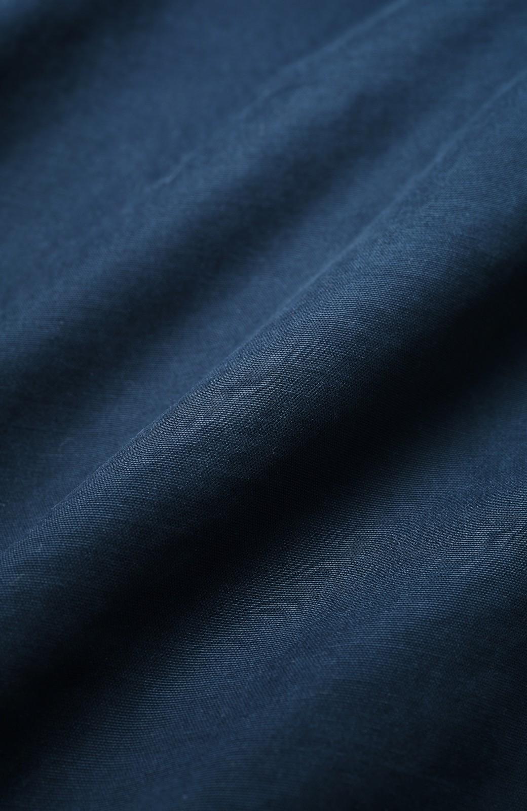 haco! パッと羽織ってかっこよく、きゅっと絞って女っぽい ウエストリボンロングコート <ダークネイビー>の商品写真3