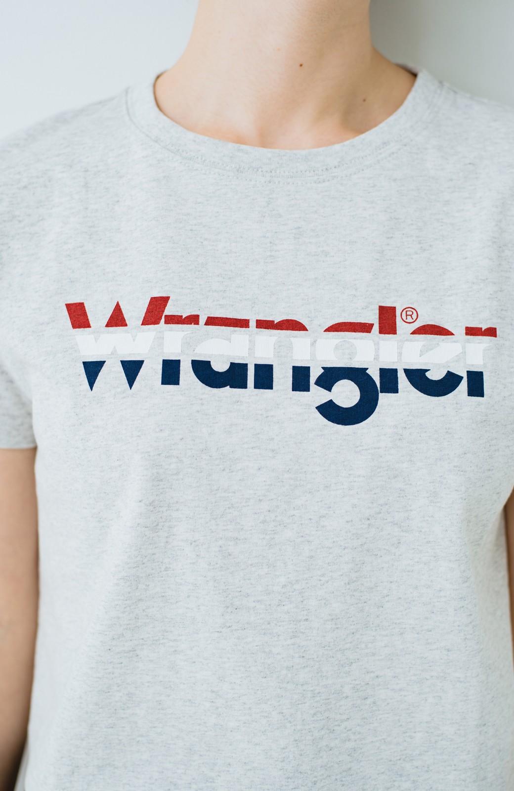 haco! Wrangler ロゴがかわいいクロップドTシャツ <グレー>の商品写真2