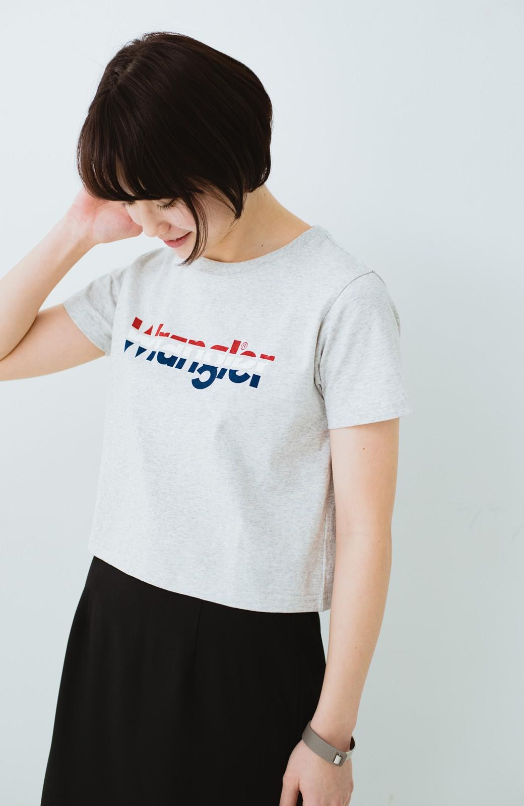 haco! Wrangler ロゴがかわいいクロップドTシャツ <グレー>の商品写真1