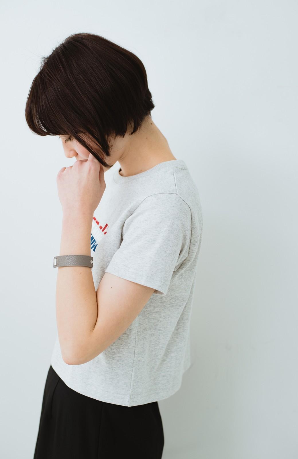 haco! Wrangler ロゴがかわいいクロップドTシャツ <グレー>の商品写真8