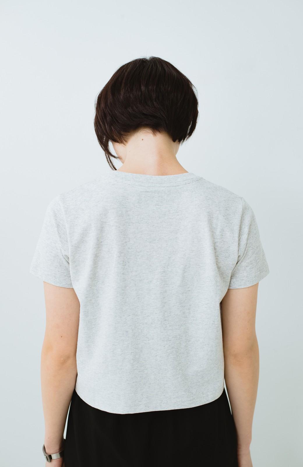 haco! Wrangler ロゴがかわいいクロップドTシャツ <グレー>の商品写真9