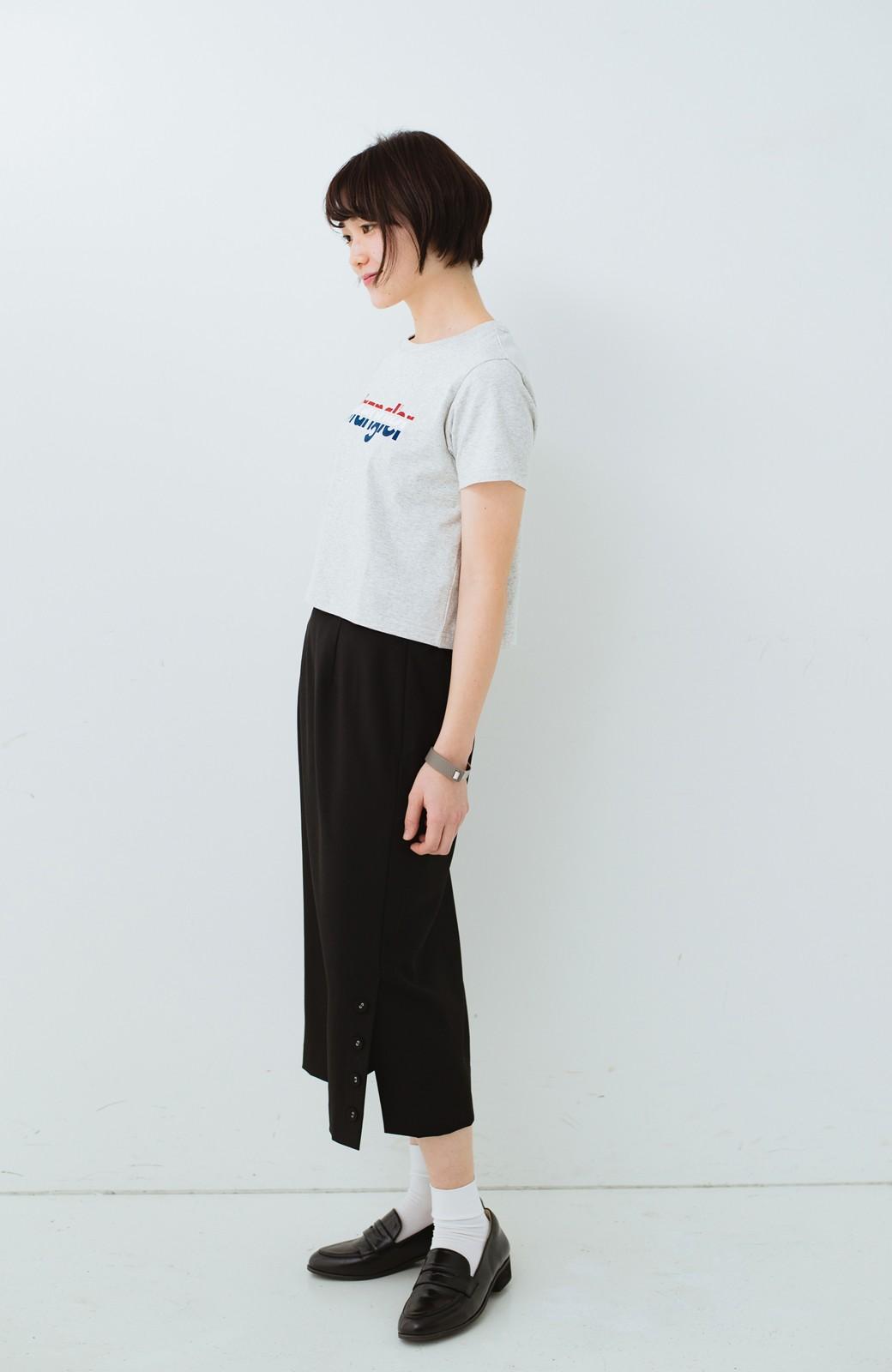 haco! Wrangler ロゴがかわいいクロップドTシャツ <グレー>の商品写真6