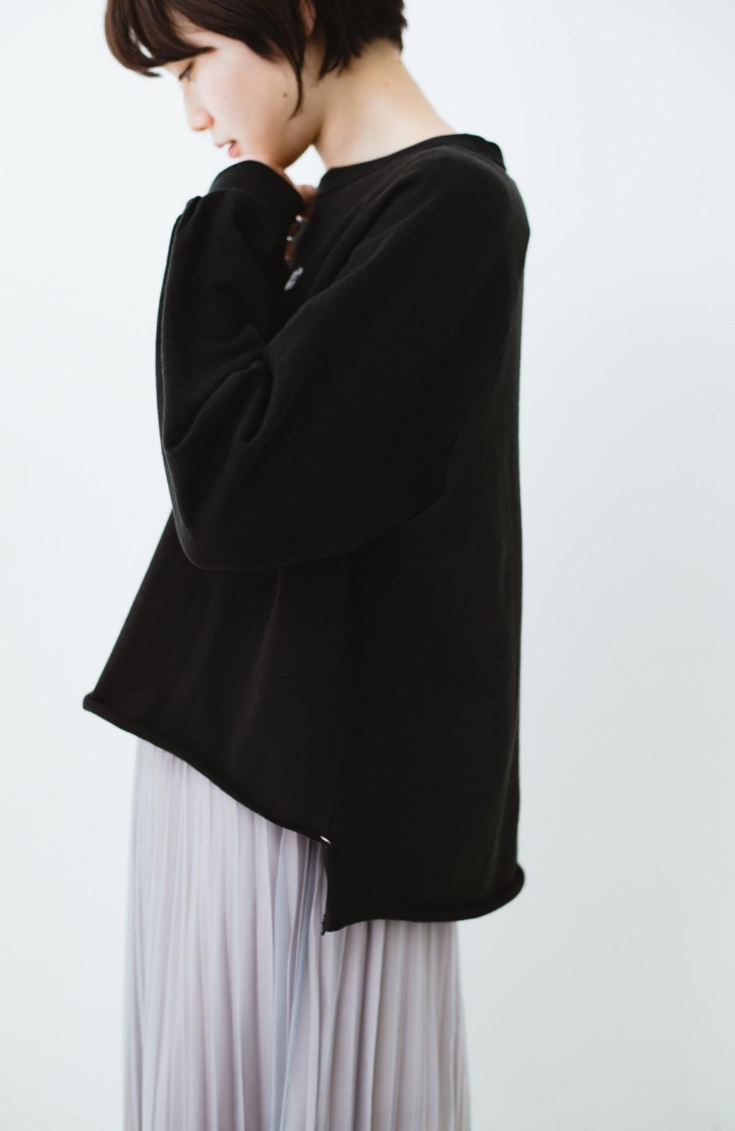 haco! 別注 Lee  ぷっくり袖がかわいい ロゴワッペンスウェット <ブラック>の商品写真4