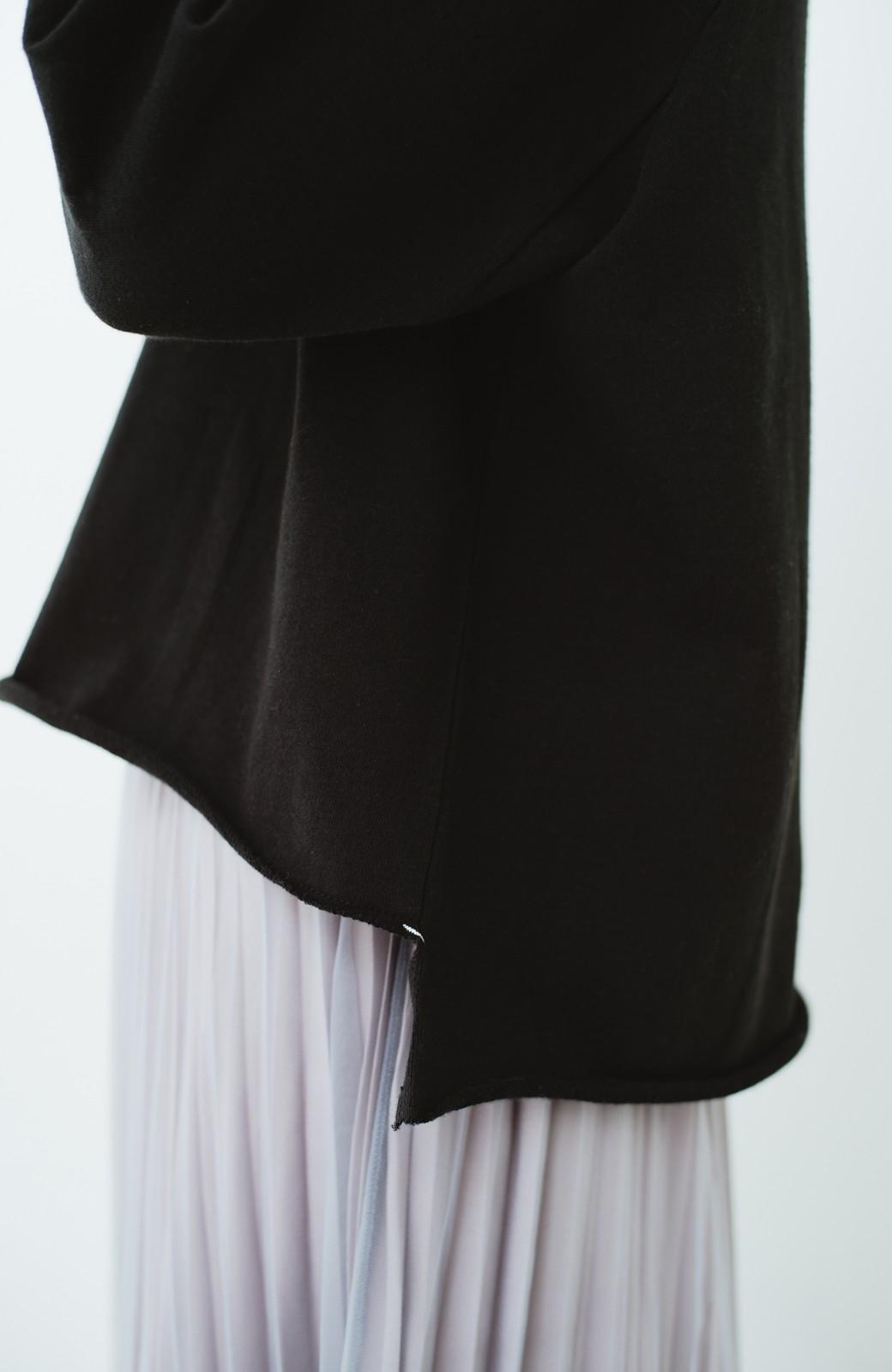 haco! 別注 Lee  ぷっくり袖がかわいい ロゴワッペンスウェット <ブラック>の商品写真5