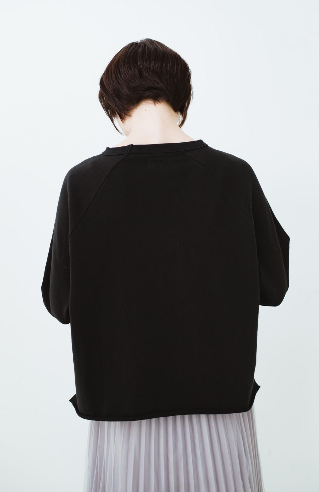 haco! 別注 Lee  ぷっくり袖がかわいい ロゴワッペンスウェット <ブラック>の商品写真11