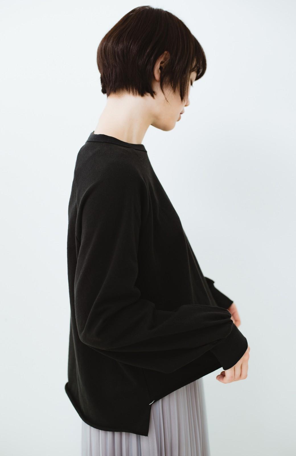 haco! 別注 Lee  ぷっくり袖がかわいい ロゴワッペンスウェット <ブラック>の商品写真12