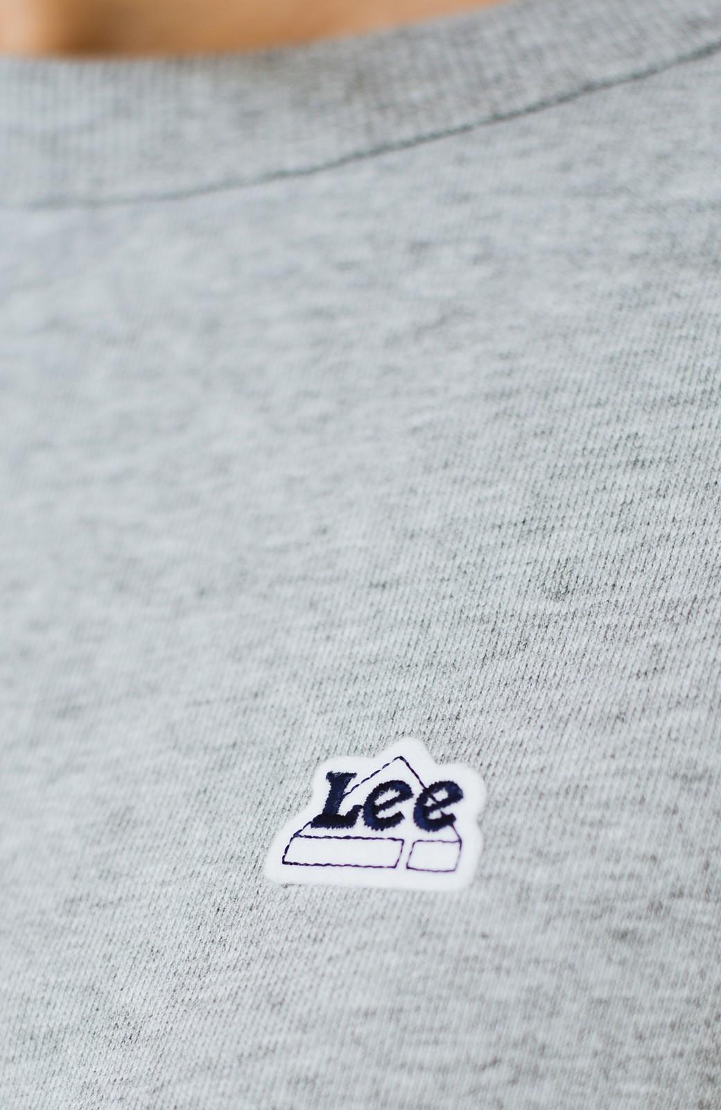 haco! 別注 Lee  ぷっくり袖がかわいい ロゴワッペンスウェット <杢グレー>の商品写真14