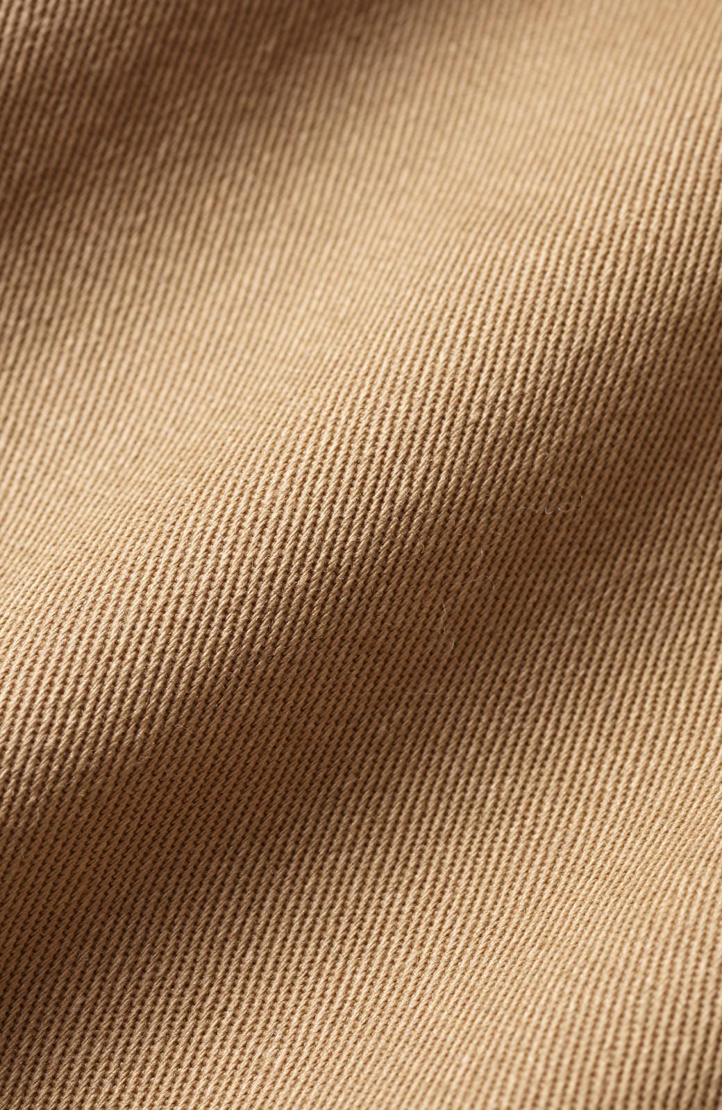 haco! 太ってもばれないくらいボリュームたっぷりのワイドパンツ <ベージュ>の商品写真2