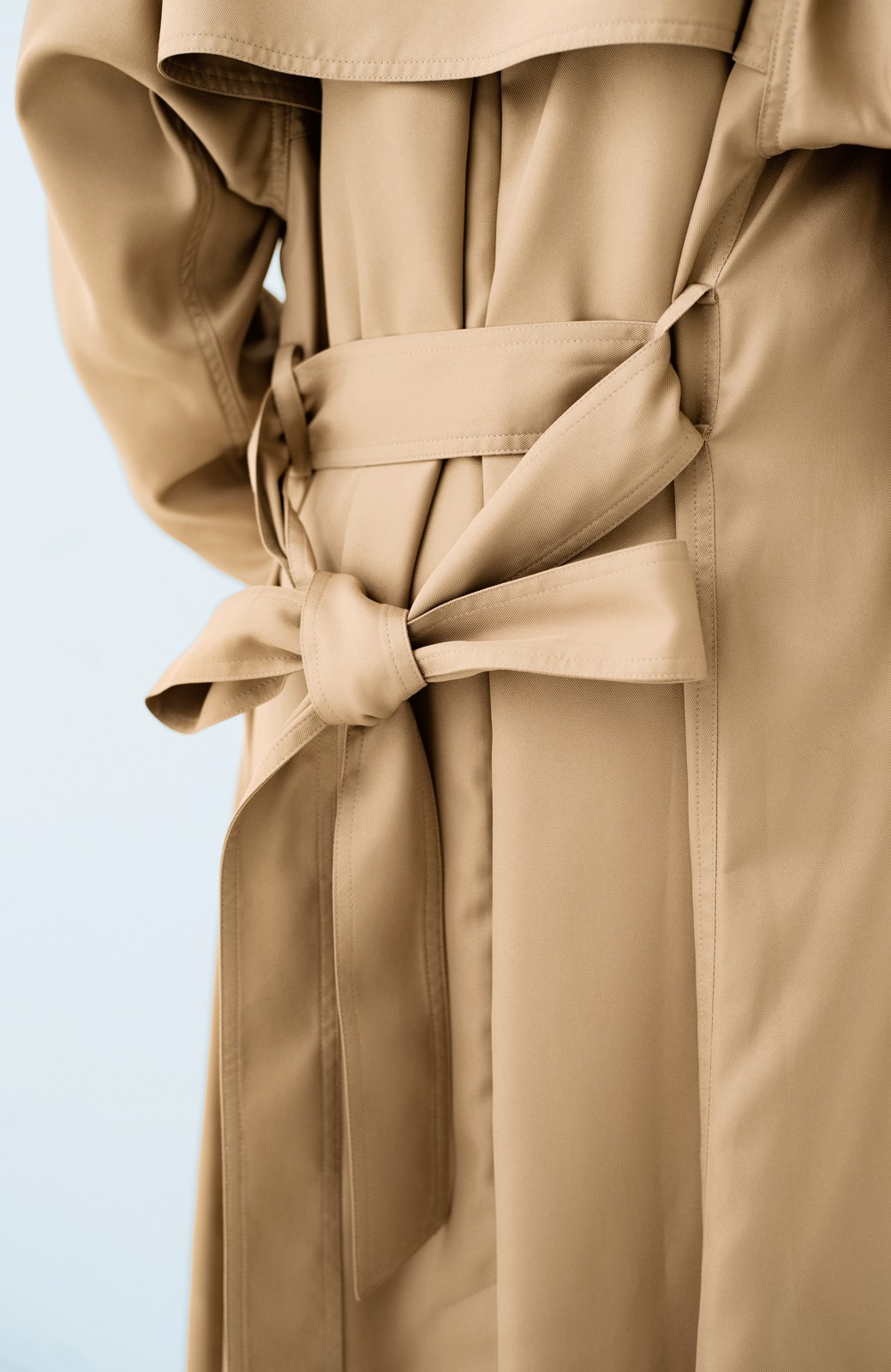 haco! これさえ着ておけば間違いない ゆったり袖のトレンチコート <ベージュ>の商品写真5