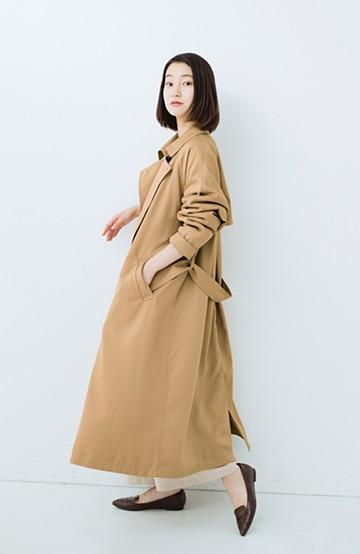 haco! これさえ着ておけば間違いない ゆったり袖のトレンチコート <ベージュ>の商品写真