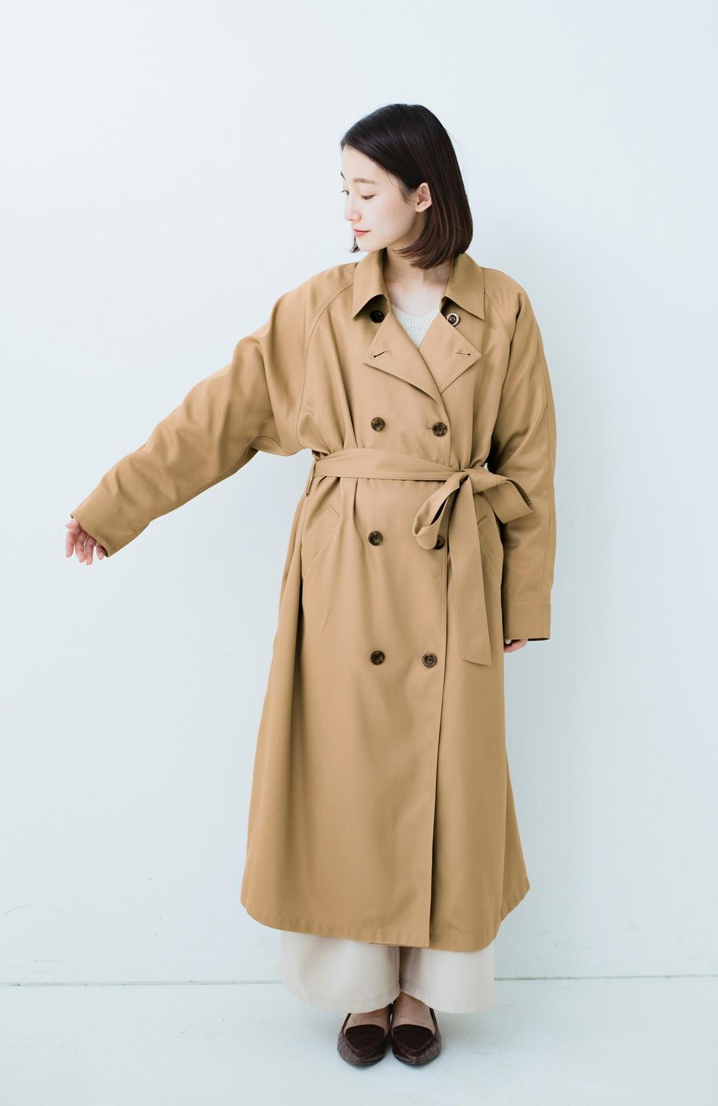 haco! これさえ着ておけば間違いない ゆったり袖のトレンチコート <ベージュ>の商品写真9