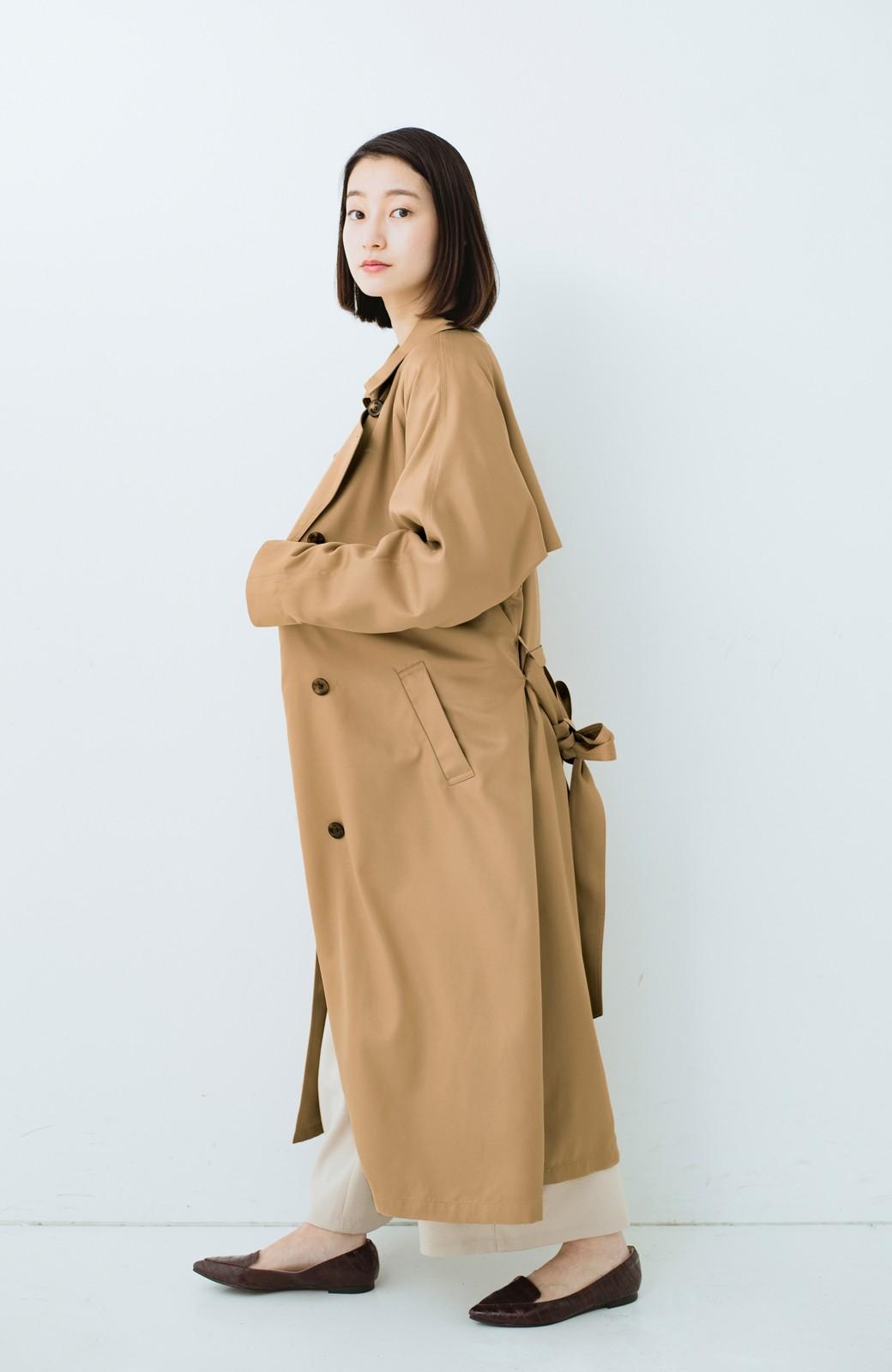haco! これさえ着ておけば間違いない ゆったり袖のトレンチコート <ベージュ>の商品写真12