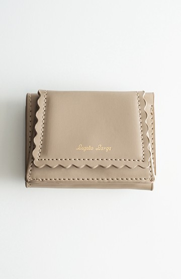 haco! Legato Largo スカラップライン 三つ折りミニ財布 <ベージュ>の商品写真