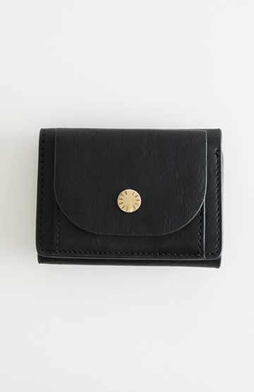 haco! Legato Largo ベーシック 三つ折りミニ財布 <ブラック>の商品写真