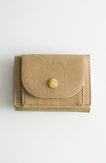 haco! Legato Largo ベーシック 三つ折りミニ財布 <ベージュ>の商品写真