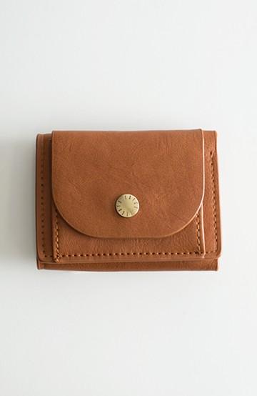 haco! Legato Largo ベーシック 三つ折りミニ財布 <キャメル>の商品写真