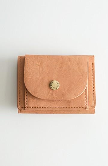 haco! Legato Largo ベーシック 三つ折りミニ財布 <ピンクベージュ>の商品写真