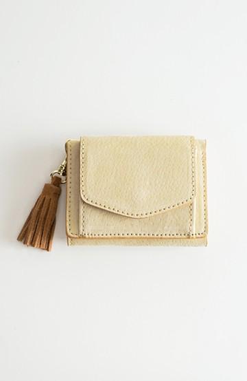 haco! Legato Largo ピッグスエード 三つ折りミニ財布 <アイボリー>の商品写真