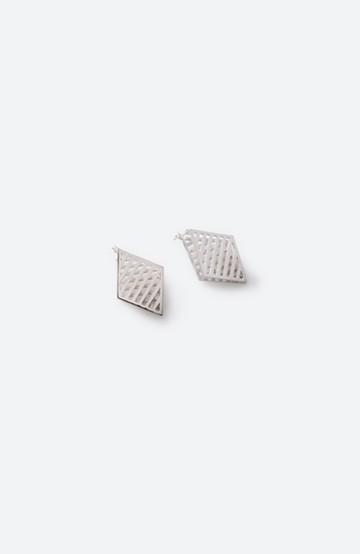 haco! てとひとて januka シルバー3Dピアス(メッシュダイヤモンド)L <シルバー>の商品写真