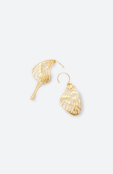 haco! てとひとて MARZO DERICATE AIR ゴールドピアス(蝶の羽)  <ゴールド>の商品写真