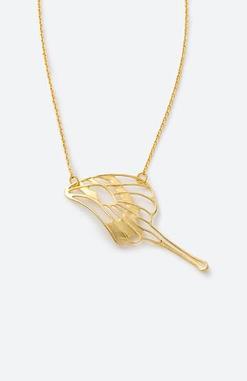 haco! てとひとて MARZO DERICATE AIR 蝶の羽ゴールドネックレス <ゴールド>の商品写真