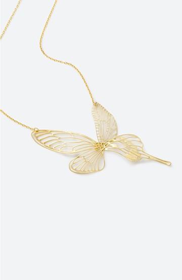 haco! てとひとて MARZO DERICATE AIR 昆虫の羽ゴールドネックレス <ゴールド>の商品写真