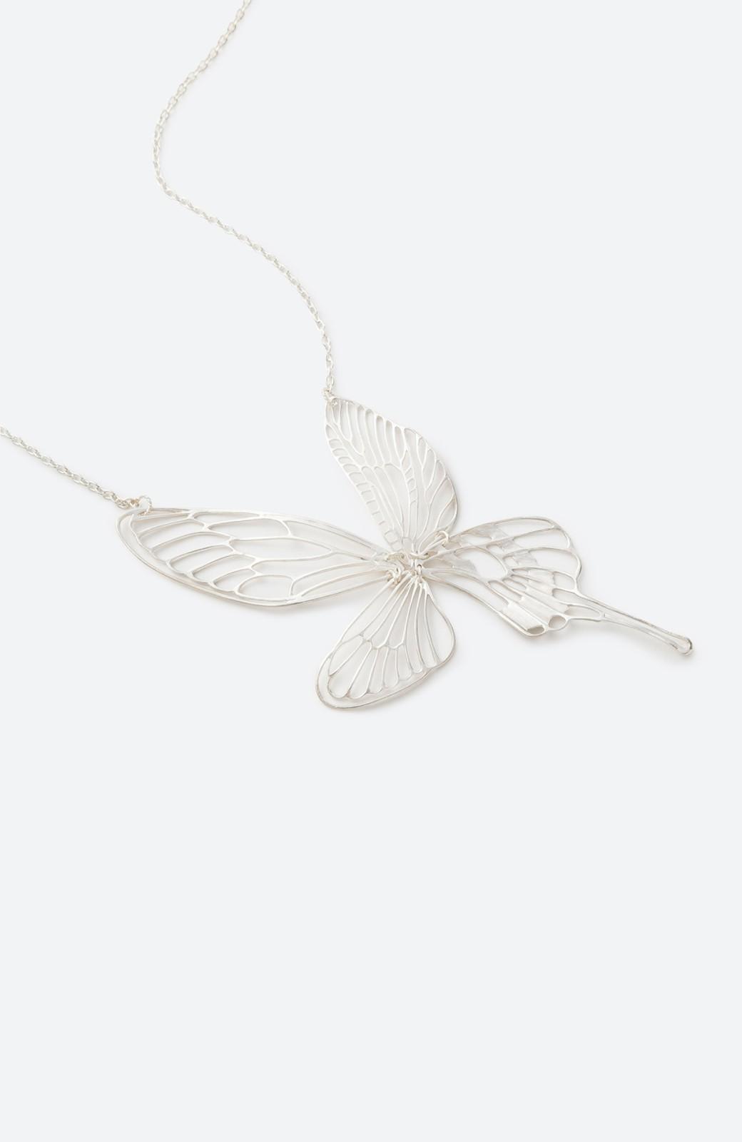 haco! てとひとて MARZO DERICATE AIR 昆虫の羽シルバーネックレス <シルバー>の商品写真1